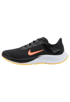 AIR ZOOM PEGASUS 37 FLYEASE - Obuwie do biegania treningowe - black/bright mango/anthracite/white/citron pulse