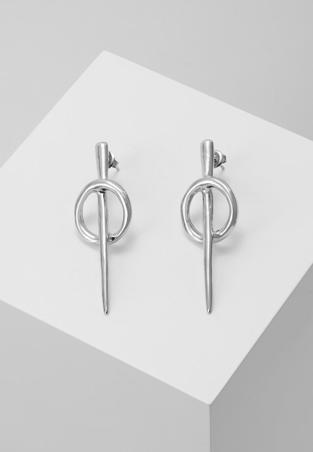 MY SQUAD THREAD EARRING - Örhänge - silver-coloured