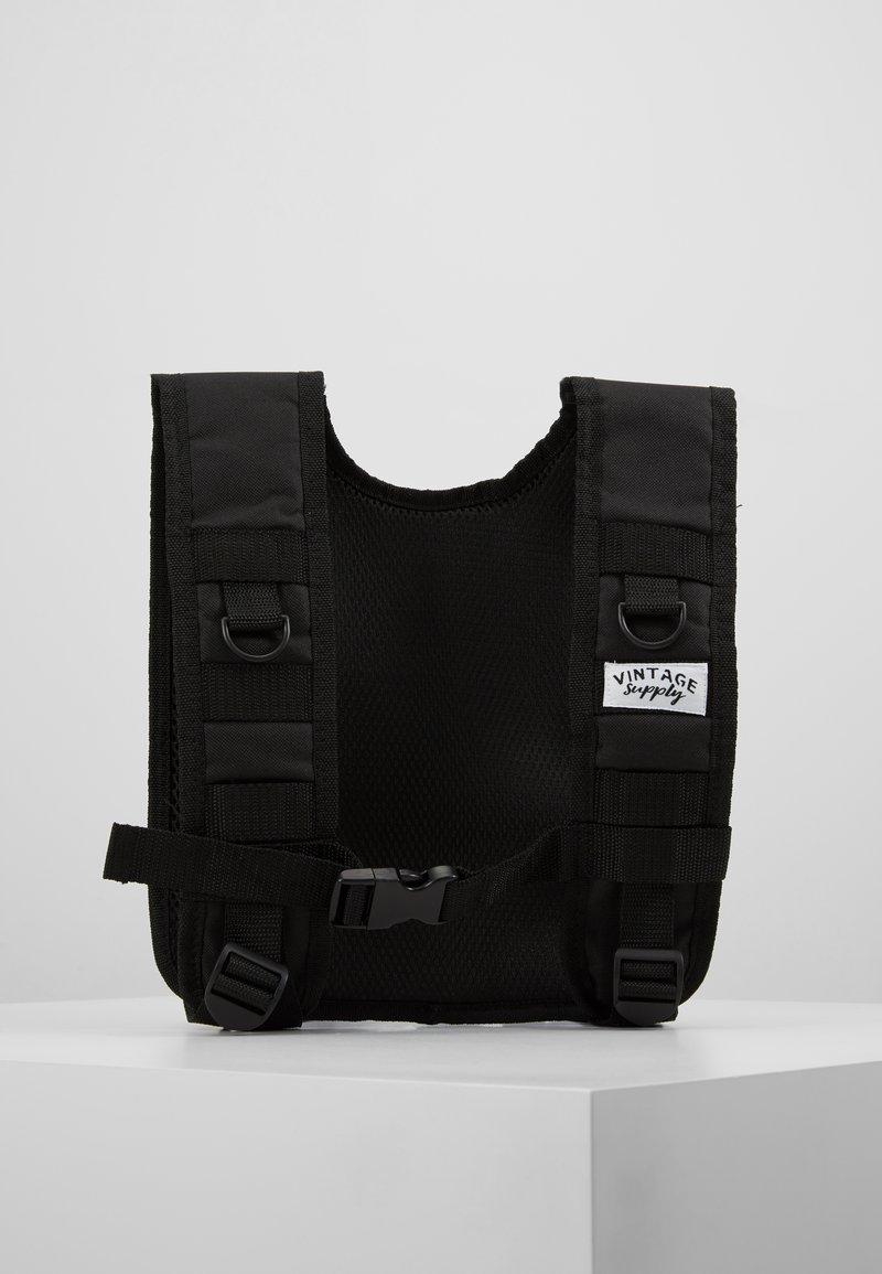 Vintage Supply - UTILITY VEST - Waistcoat - black