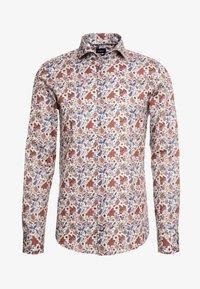 PAJOS SLIM FIT - Shirt - white/brown