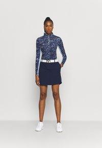 Kjus - WOMEN SUNSHINE SPORT HALF ZIP - Long sleeved top - atalanta blue/cloud blue - 1