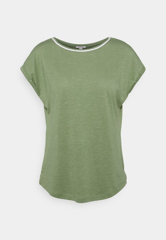 TEE - T-shirt - bas - light khaki
