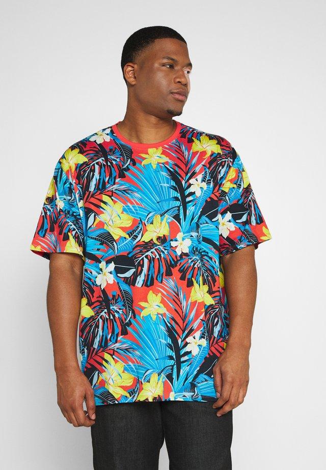 FLOWER TEE  - T-shirts print - rot