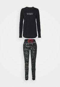 Diesel - UFSET-SILYBYX-LSPYJAMA - Pyjama set - black/argento/rosso - 0