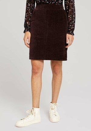 Pencil skirt - java dark brown