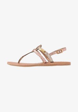 BARAKA - Sandály s odděleným palcem - or/peche