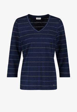 Long sleeved top - blau ringel