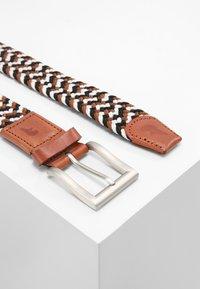 Slopes&Town - Braided belt - black/white/brown - 2