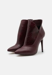 Trendyol - High heeled ankle boots - burgundy - 1