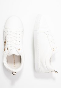 Dorothy Perkins - INFERNO ANIMAL SIDE PANEL LACE UP TRAINER - Trainers - white - 3