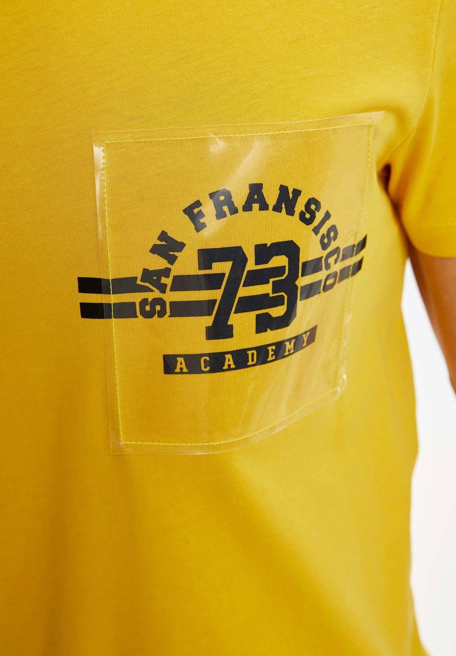DeFacto Print T-shirt - yellow nCK8b