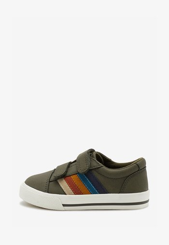 STRIPE STRAP TOUCH FASTENING SHOES