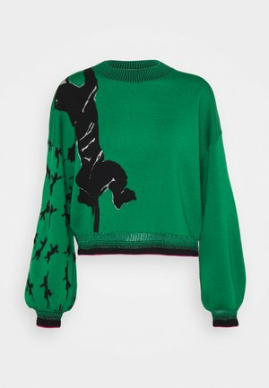 DEXA SWEATER - Neule - black/green