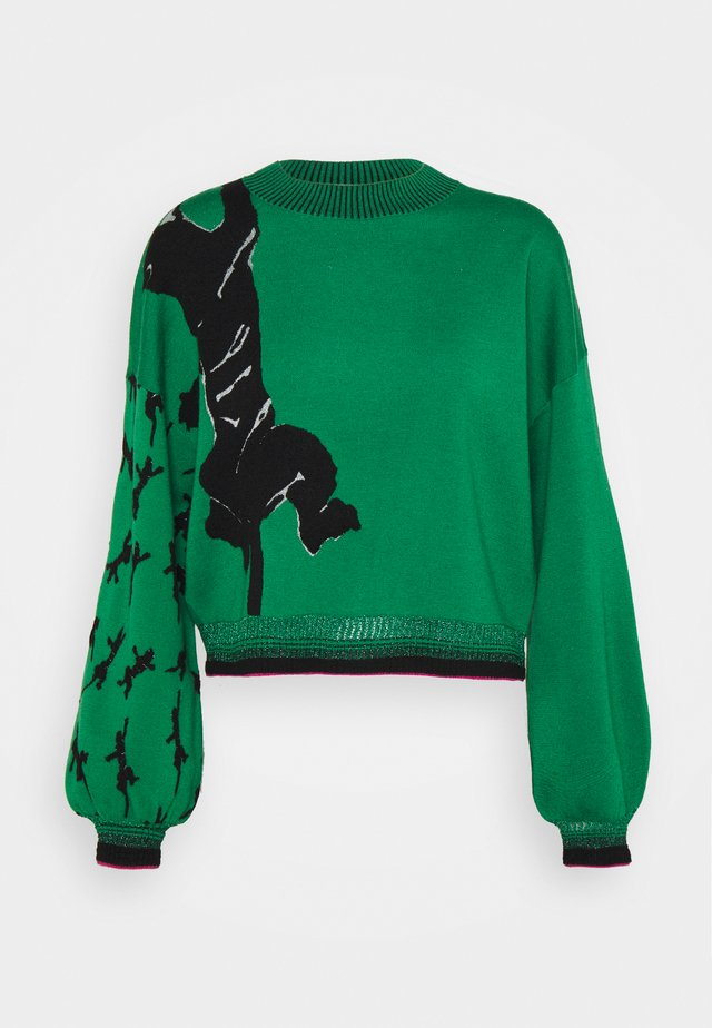 DEXA SWEATER - Maglione - black/green