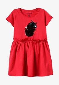 Blue Seven - Žerzejové šaty - hochrot - 3