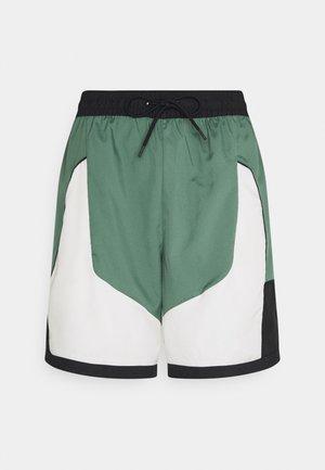 THROWBACK SHORT NARRATIVE - Pantalón corto de deporte - dutch green/pale ivory/off noir