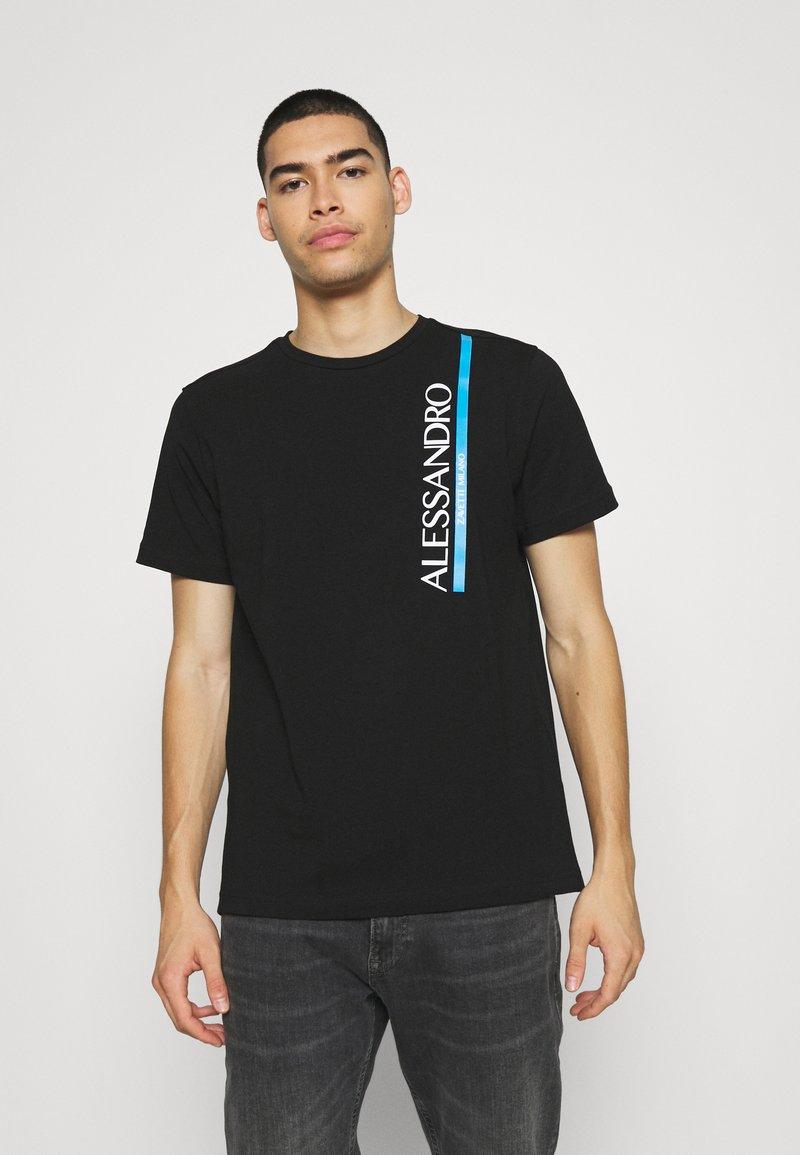 Alessandro Zavetti - VERSEO TEE - Print T-shirt - black