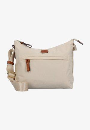 Across body bag - beige/leather
