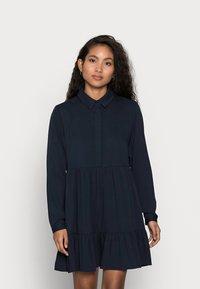 VILA PETITE - VIMOROSE SHIRT DRESS - Vestido camisero - navy blazer - 0