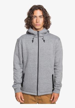 MIT REISSVERSCHLUSS FÜR M - Zip-up hoodie - light grey heather