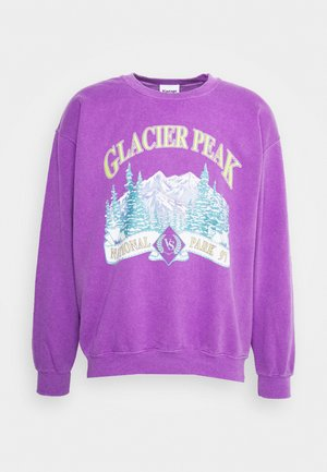 OVERDYED WITH GLACIER PEAK GRAPHIC UNISEX - Mikina - od purple