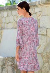 Alba Moda - Day dress - blau/koralle - 4