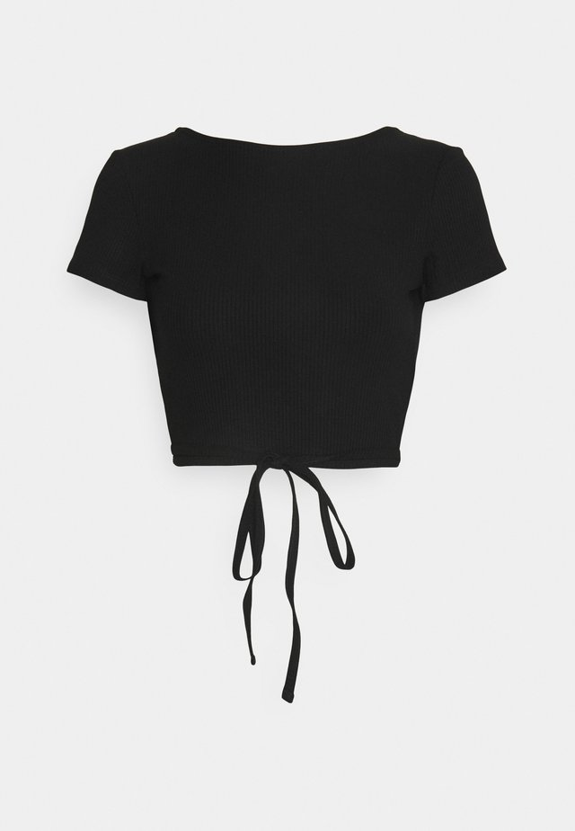 RIVER TOP - Basic T-shirt - black