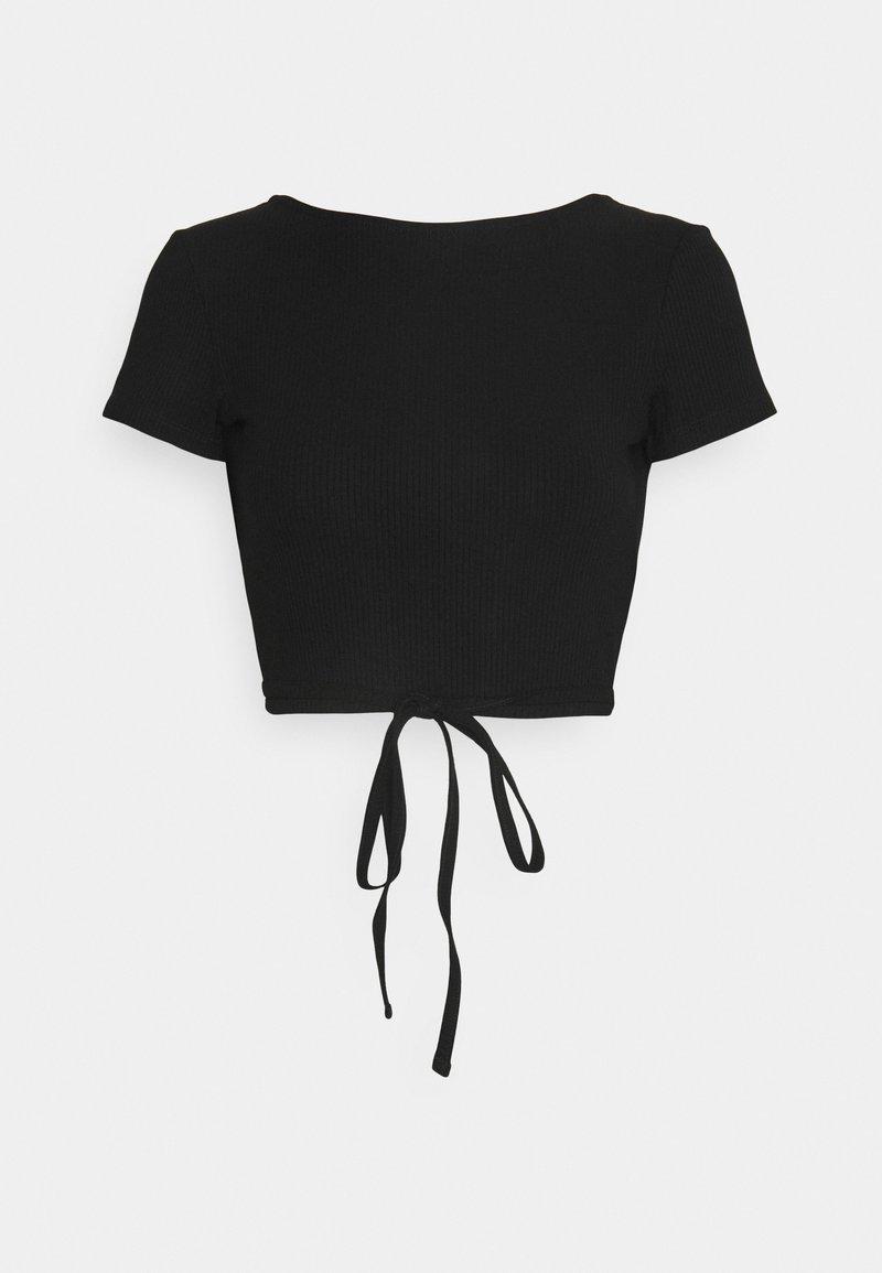 EDITED - RIVER TOP - Basic T-shirt - black