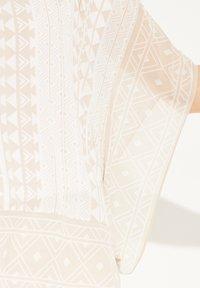 comma - Cape - sand geometric print - 3
