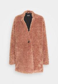 ONLY Tall - ONLDINA TEDDY COAT - Classic coat - burlwood - 0