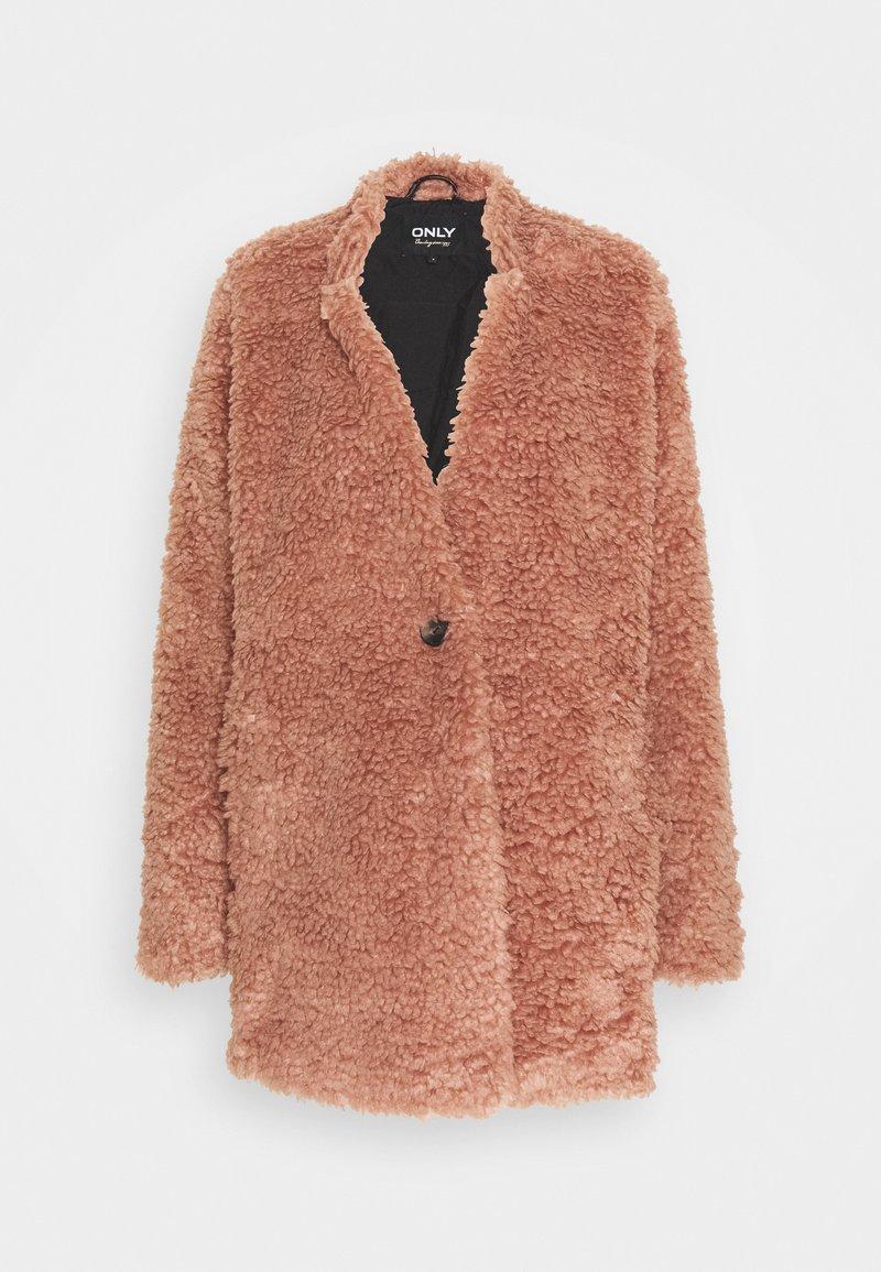 ONLY Tall - ONLDINA TEDDY COAT - Classic coat - burlwood
