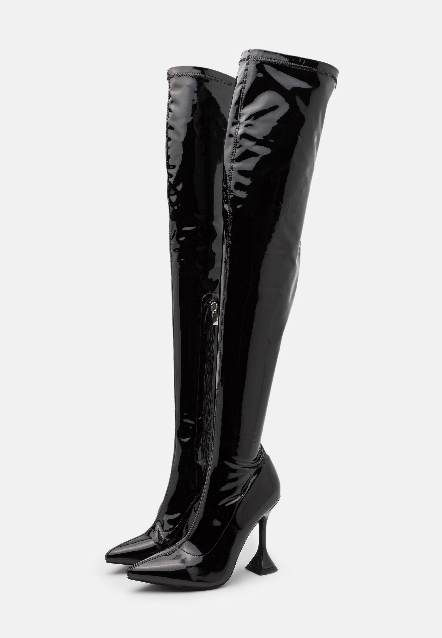 LUSH Laarzen met hoge hak black