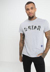 G-Star - GRAPHIC 10 R T S\S - Camiseta estampada - grey heather - 0