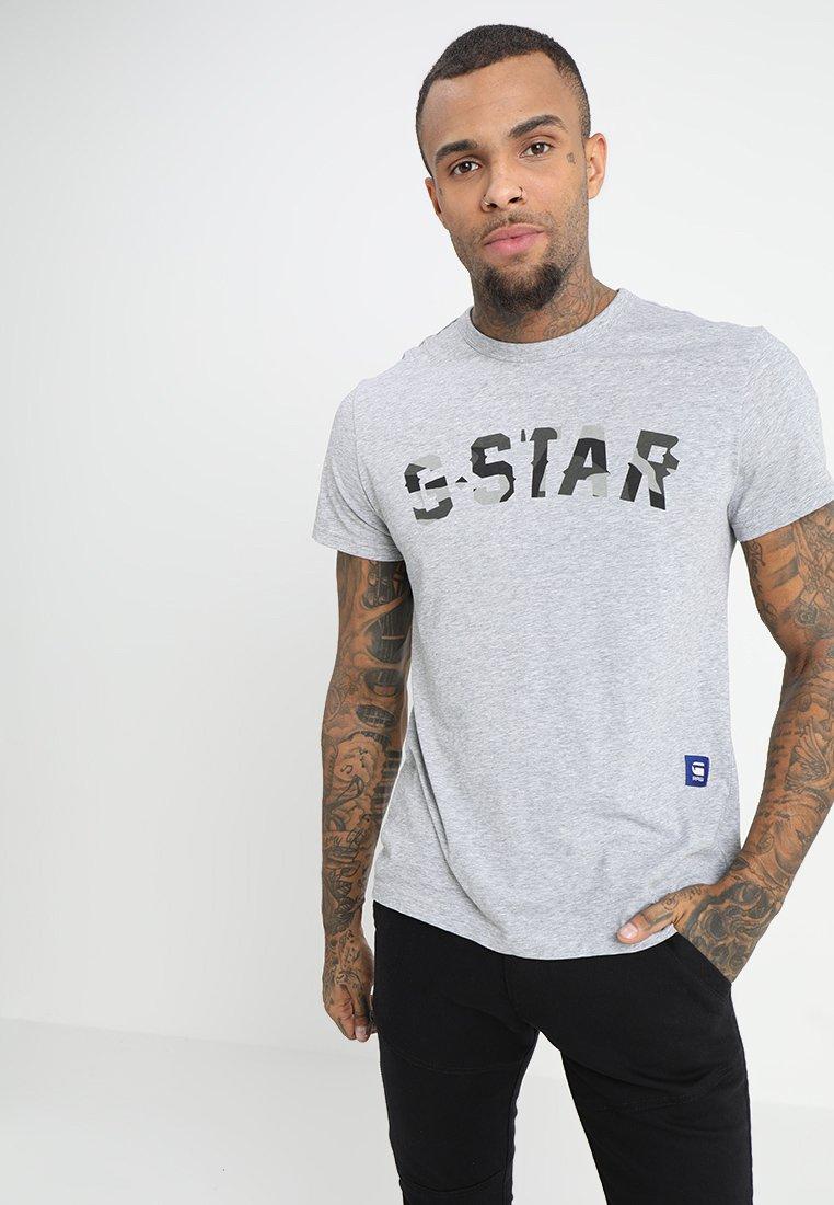 G-Star - GRAPHIC 10 R T S\S - Camiseta estampada - grey heather
