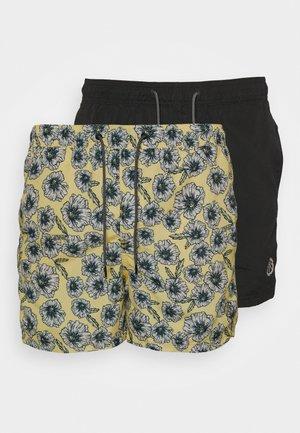 JJIBALI JJSWIM 2 PACK - Swimming shorts - pale banana/black