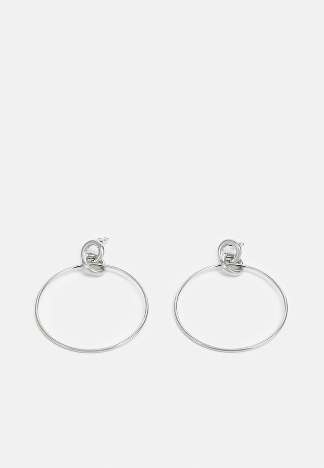 DOUBLE LINK DROP - Boucles d'oreilles - silver-coloured