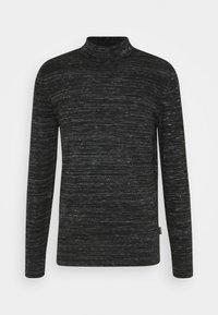 Calvin Klein - HEATHER MOCK NECK - Jumper - black - 3