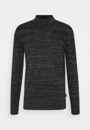 HEATHER MOCK NECK - Jumper - black