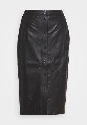 SKIRT SNAPS - Pencil skirt - black