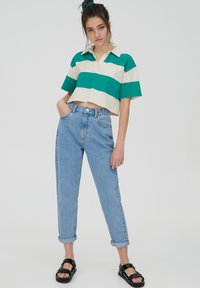 PULL&BEAR - MOM - Relaxed fit jeans - grey - 1