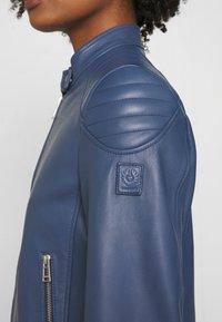 Belstaff - NEW MOLLISON JACKET - Veste en cuir - racing blue - 6
