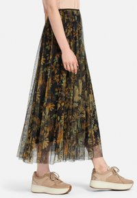 MARGITTES - Pleated skirt - schwarz/multicolor - 3