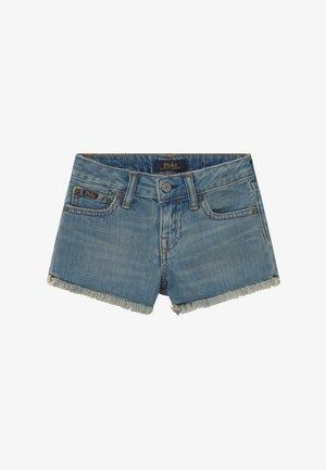 BOTTOMS - Denim shorts - dark-blue denim
