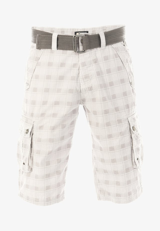RIVANTON - Shorts - white grey check