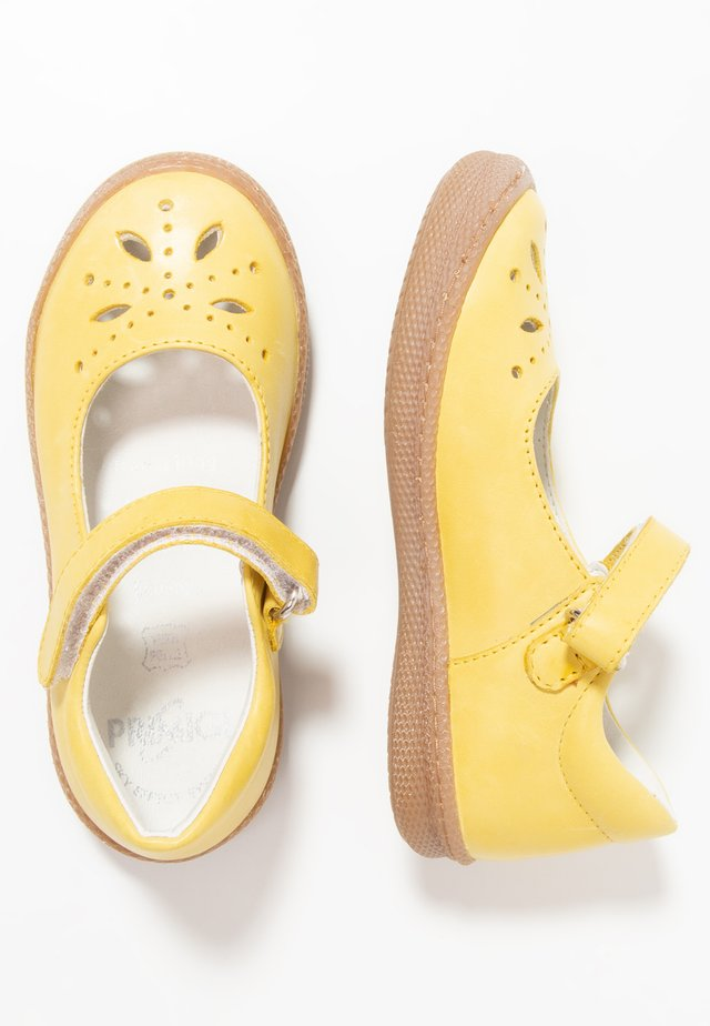 Ankle strap ballet pumps - giallo