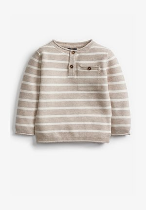 HENLEY BUTTON  - Jumper - off-white
