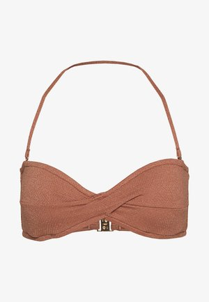 STARDUST TWIST BANDEAU - Bikini top - bronze