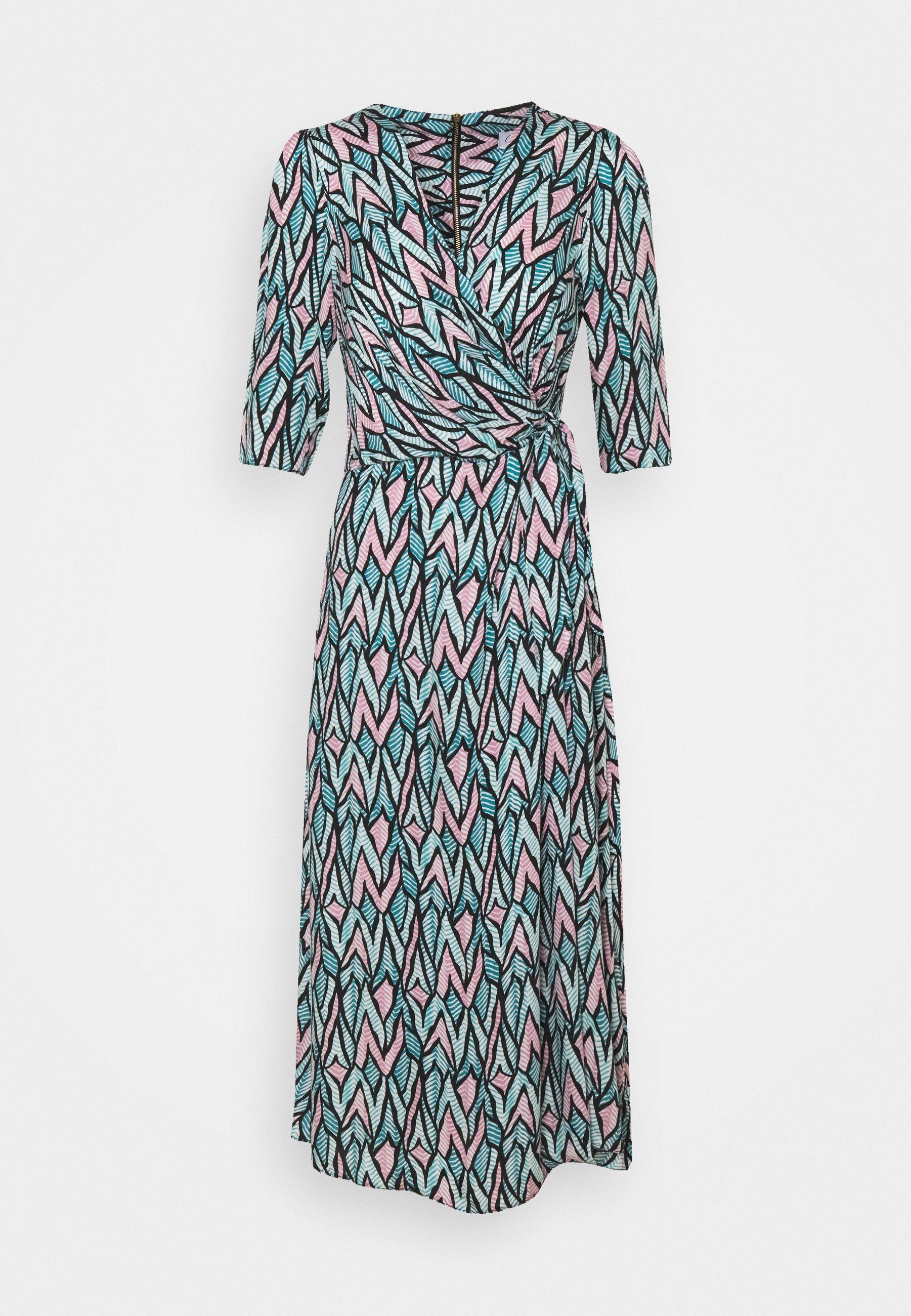 Women SHORT SLEEVE WRAP DRESS - Day dress
