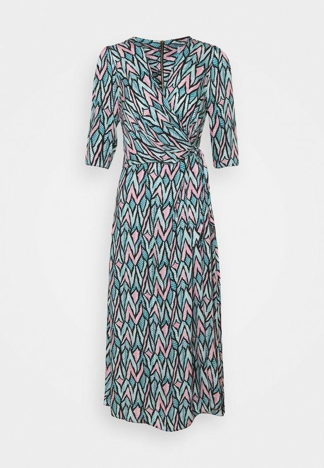 SHORT SLEEVE WRAP DRESS - Korte jurk - green