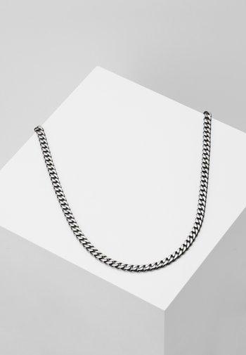 Necklace - gunmetal-coloured